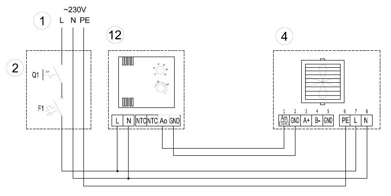 Потенциометр с термостатом – 1-4-0101-0473 подключение в Волкано ЕС