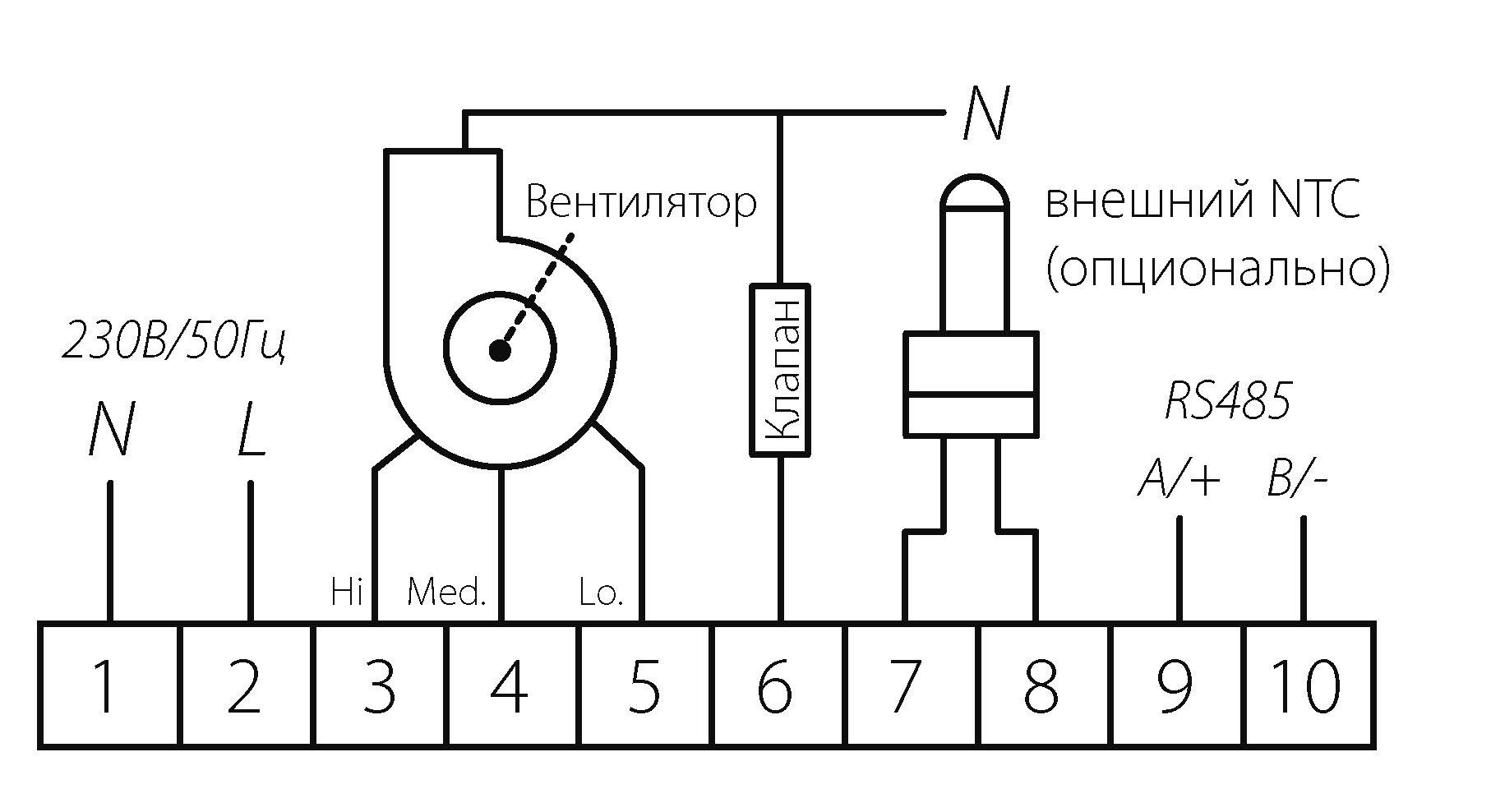 Схема контактов HMI ГРЕЕРС
